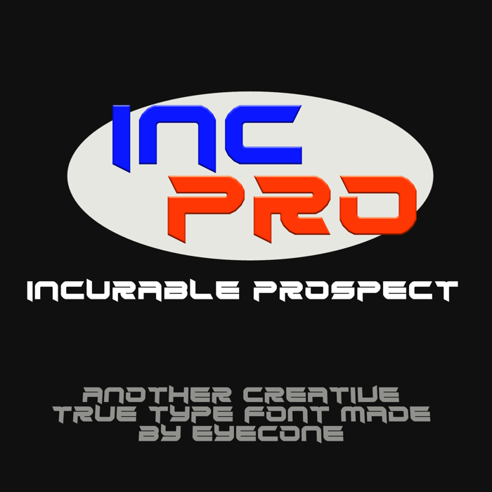 Incurable Prospect Font poster