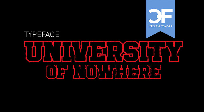 University of Nowhere Font poster