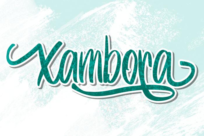 Xambora Font poster