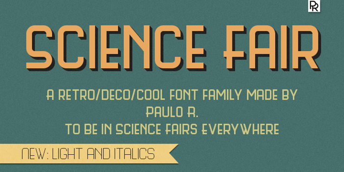 Science Fair Font poster