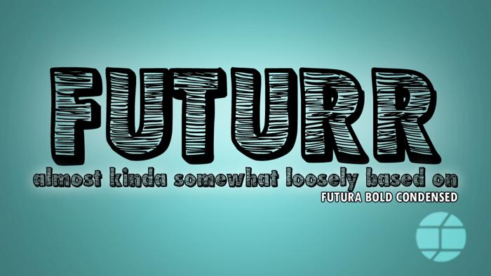 Futurr Font poster