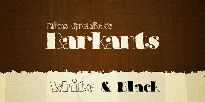 Barkants Font poster
