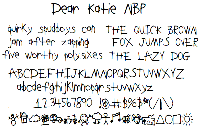 DearKatieNBP Font poster