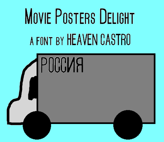 Movie Posters Delight Font poster