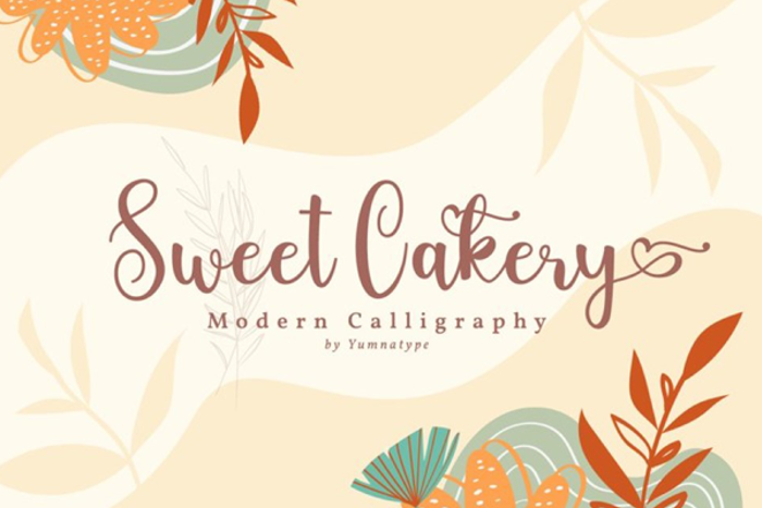 Sweet Cakery Font poster