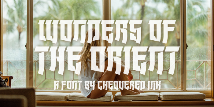 Wonders of the Orient Font poster