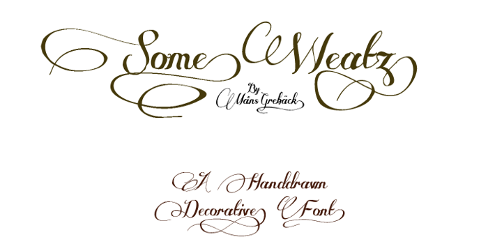 Some Weatz Font poster