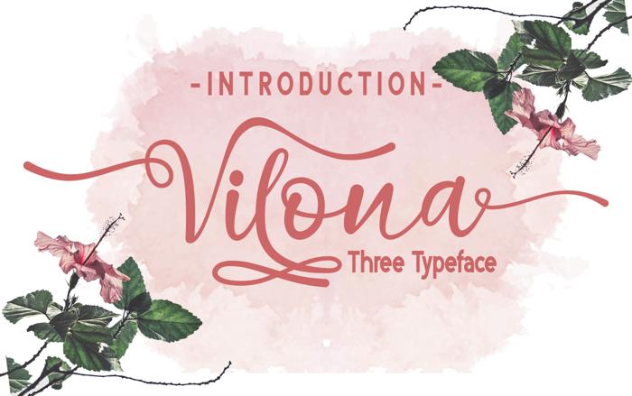 Vilona Italic Font poster
