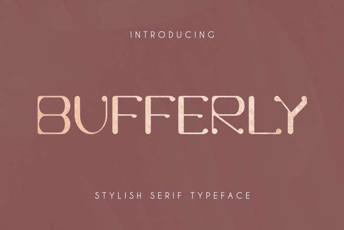 Bufferly Serif Font poster