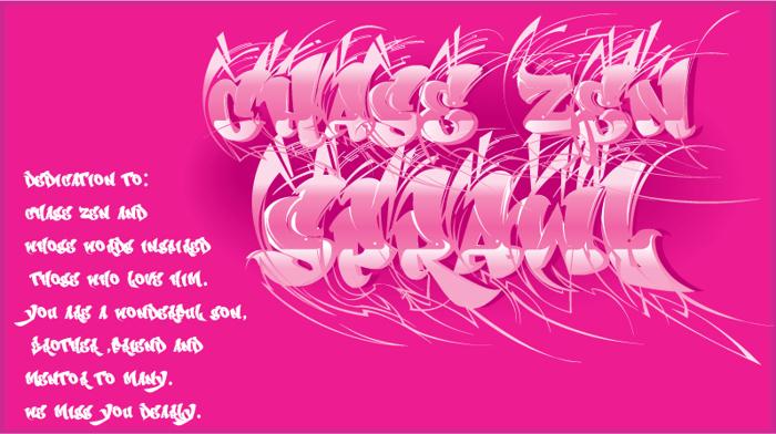CHASE ZEN SPRAWL Font poster
