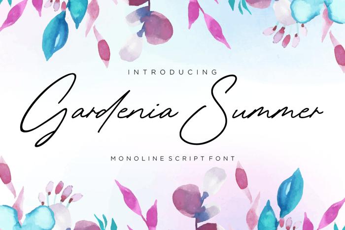 Gardenia Summer Font poster