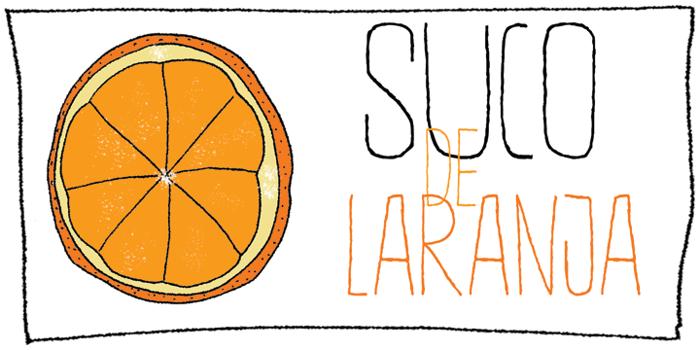DK Suco De Laranja Font poster