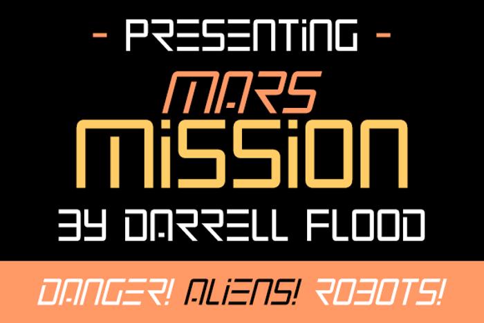 Mars Mission Font poster