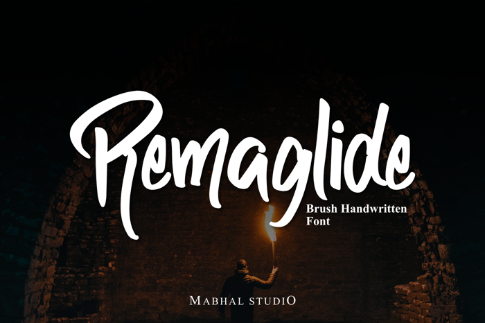 Remaglide Font poster