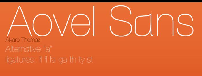 Aovel Sans Font poster