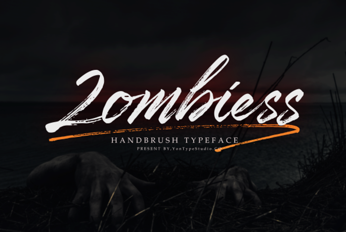 Zombiess Font poster