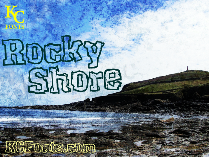 Rocky Shore Font poster