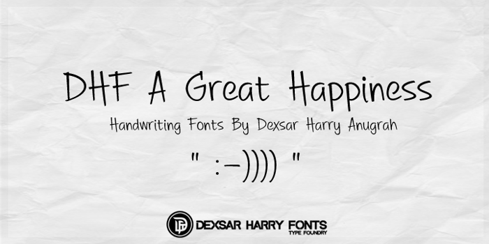 DHF A Great Happiness Font poster