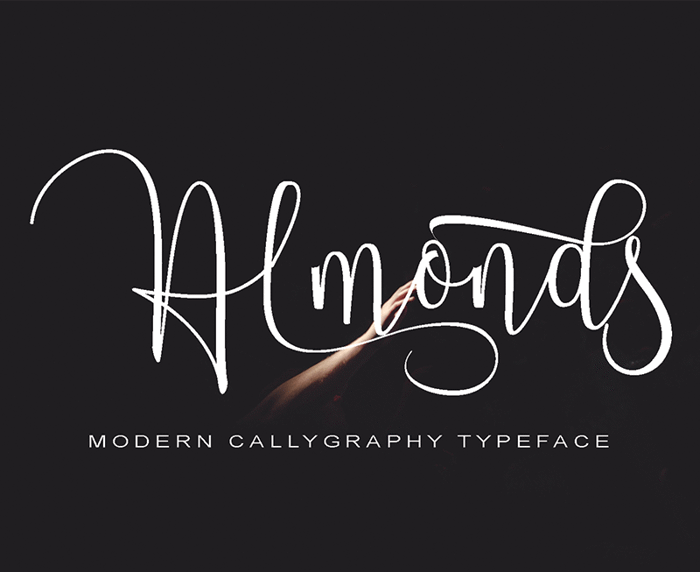 Almonds Font poster