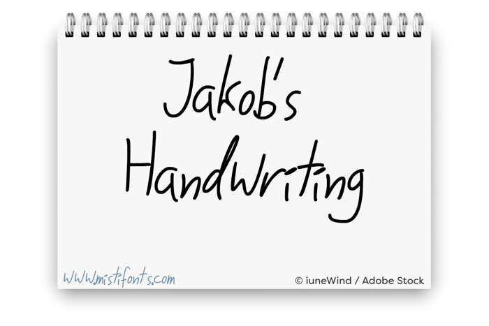 Jakobs Handwriting Font poster