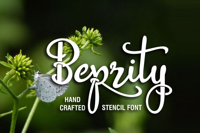 Beprity Stencil Font poster