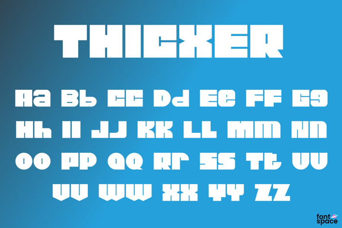 Thicxer Font poster