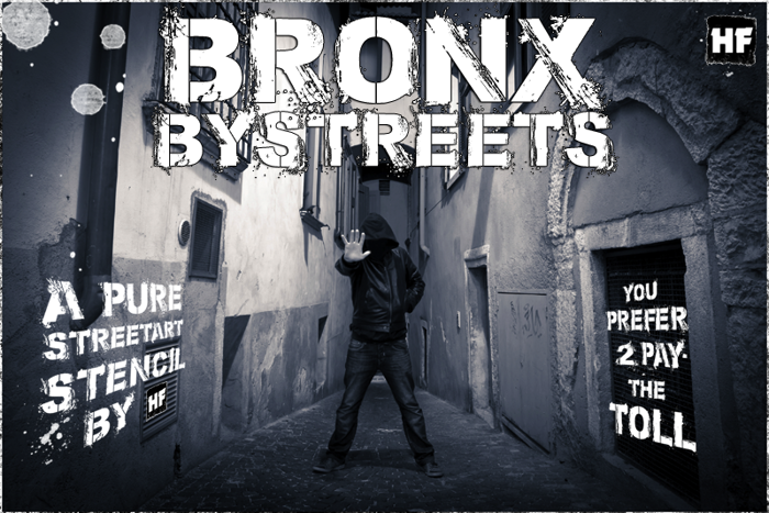 Bronx Bystreets Font poster