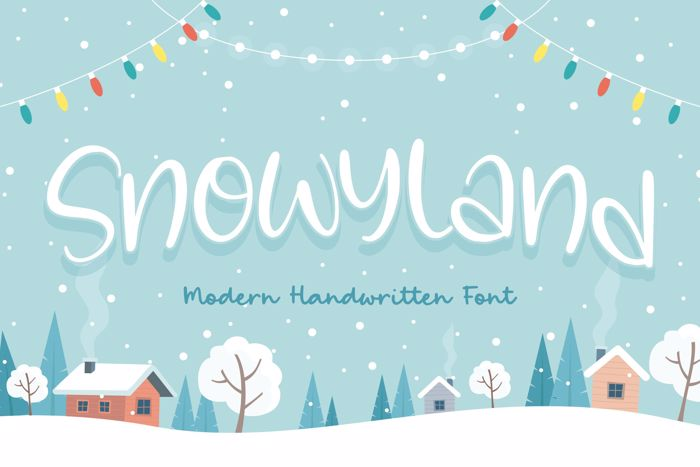 Snowyland Font poster