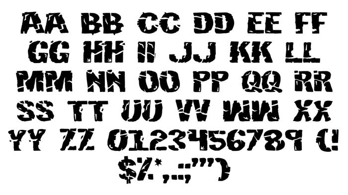 Hulkbusters Font poster