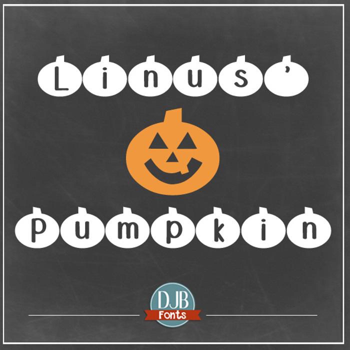 DJB Linus' Pumpkin Font poster