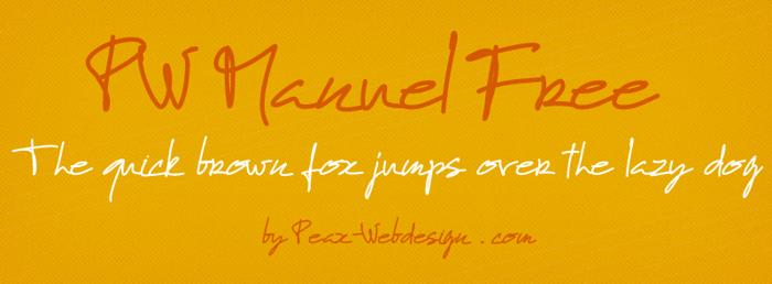 PWManuelfree Font poster