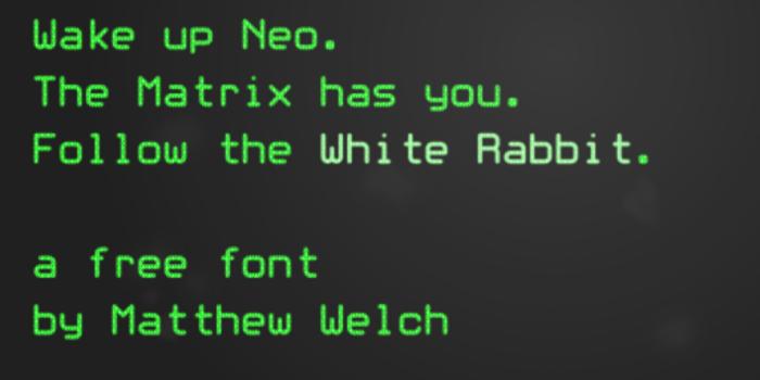 White Rabbit Font poster