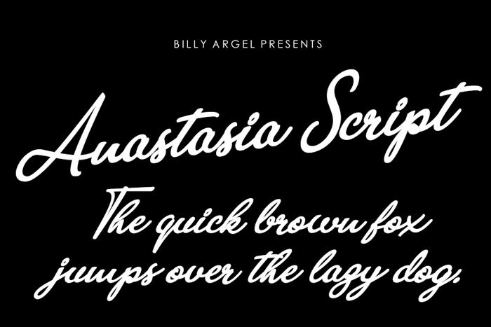 Anastasia Script Font poster