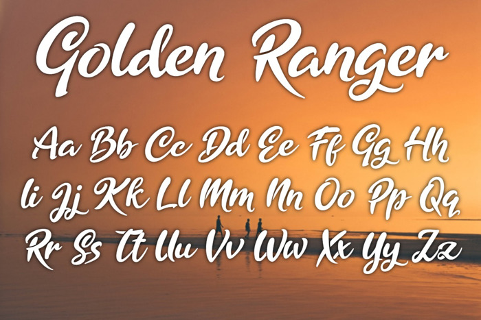 Golden Ranger Font poster