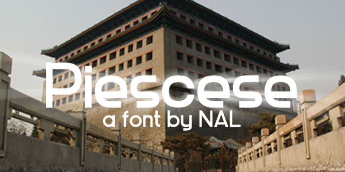 Piescese Font poster