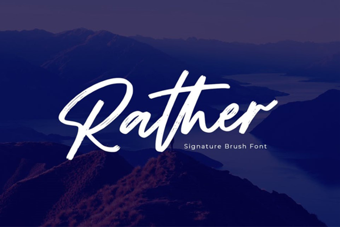 Rather Font poster