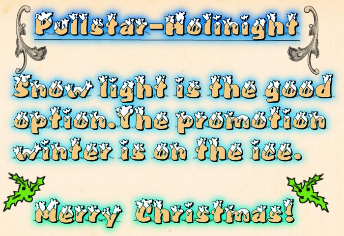 Pullstar-Holinight Font poster