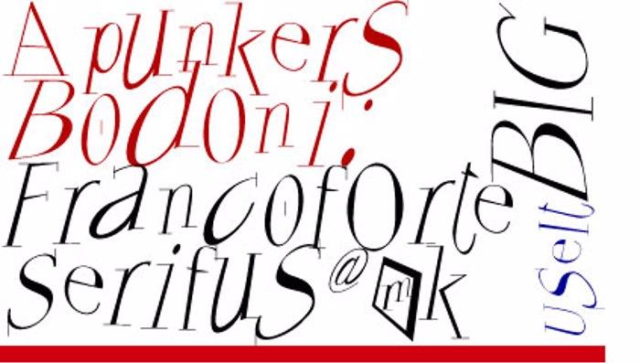 Francoforte Font poster