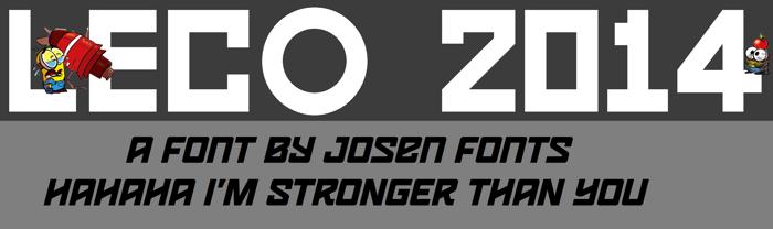 LECO 2014 Font poster