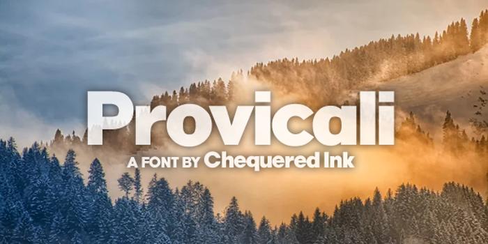 Provicali Font poster