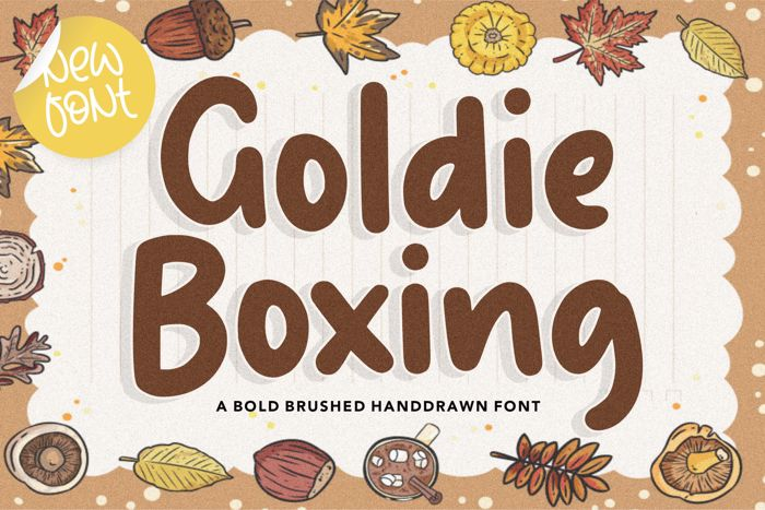 Goldie Boxing Font poster