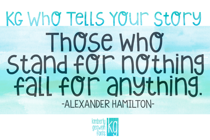 KG Who Tells Your Story Font poster