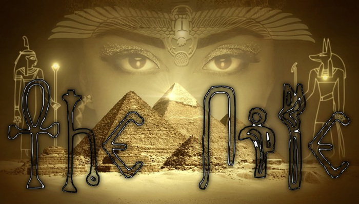 Egyptian Outline Font poster
