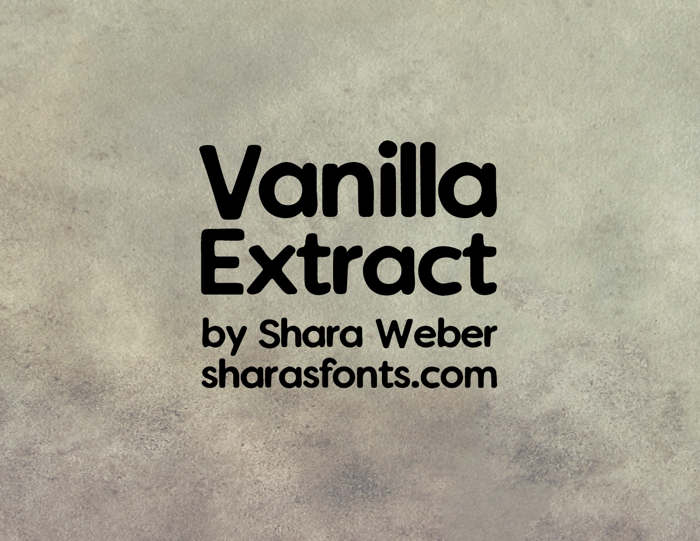 Vanilla Extract Font poster