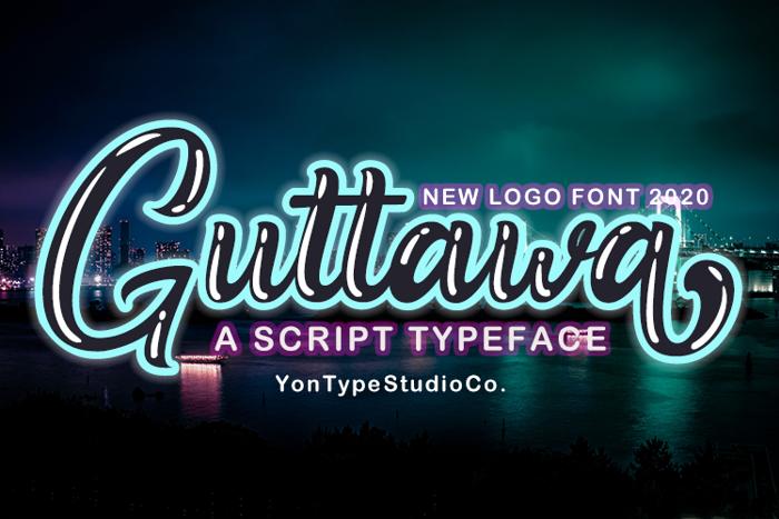 Guttawa | A Logo Typeface Font poster