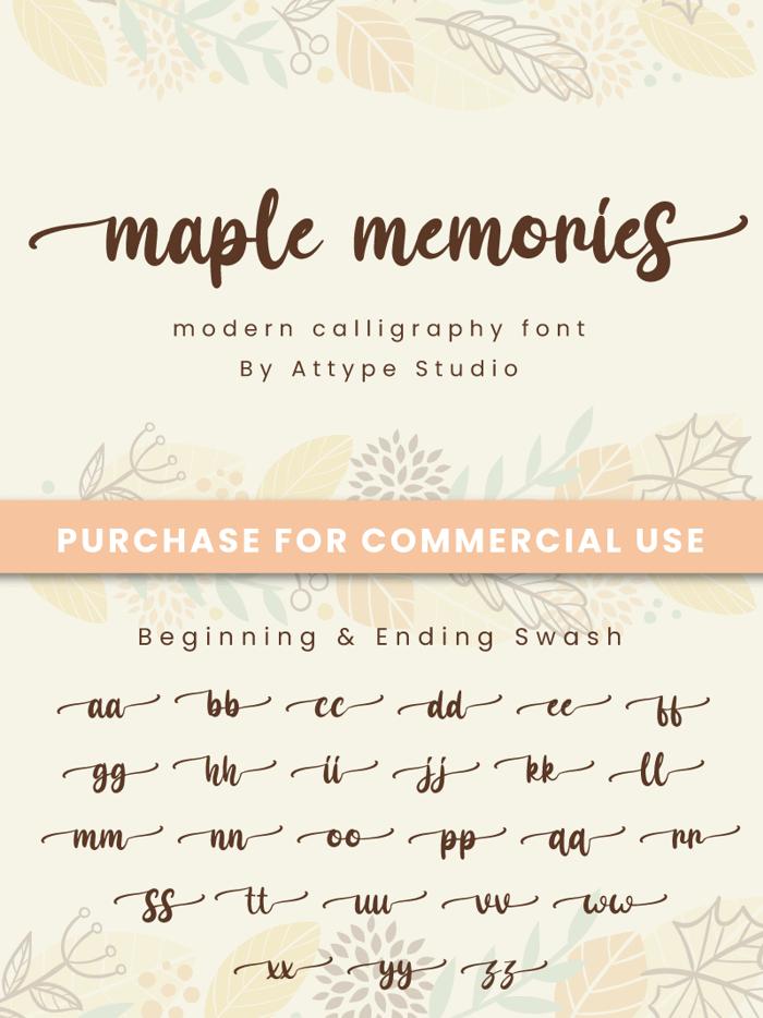 Maple Memories Font poster
