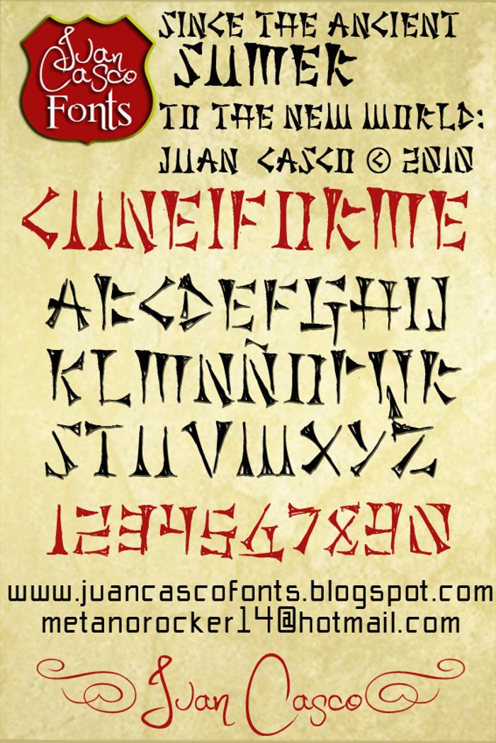Cuneiforme Font poster