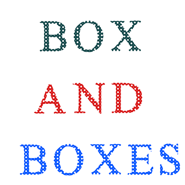Box And Boxes Font poster