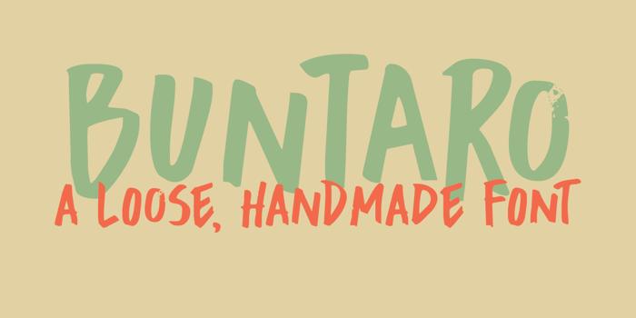 DK Buntaro Font poster