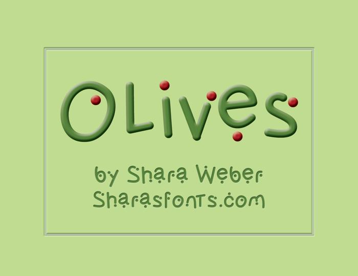 Olives Font poster